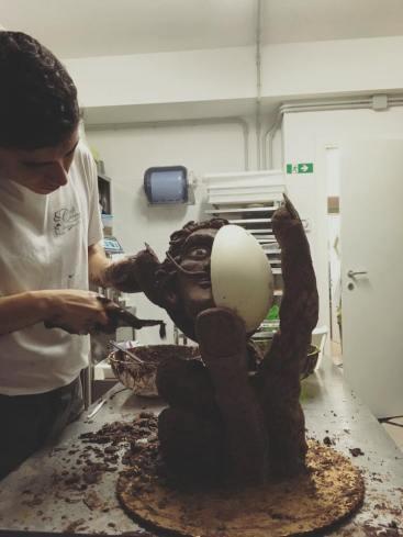 Dalì - scultura di cioccolato